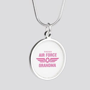 Proud Air Force Grandma W [pink] Silver Round Neck